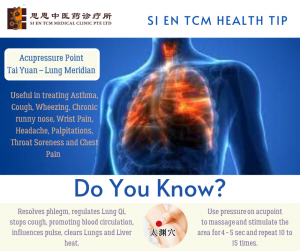 Acupressure Point - Tai Yuan Lung Meridian