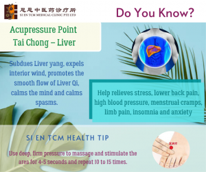 Acupressure Point - Tai Chong Liver Meridian