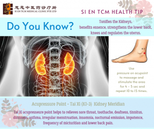 Acupressure Point - Tai Xi Kidney Meridian